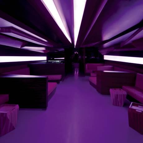 Lounge do clube D-Edge, localizado em São Paulo, de 2010 Foto: Leonardo Finotti / Divulgação