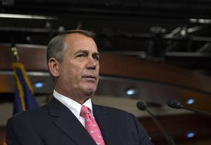 Presidente da Câmara, John Boehner. Envio de armas letais às tropas ucranianas foi aprovada por maioria dos representantes Foto: Molly Riley / AP