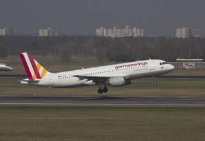Airbus A320 da Germanwings em março de 2014 Foto: Jan Seba / REUTERS
