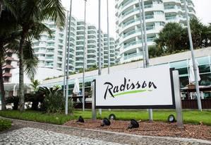 Hotel Radisson, antigo Sheraton, é um dos estabelecimentos onde Duque, Barusco e Vaccari se encontravam para negociar divisão da propina Foto: Bárbara Lopes / Agência O Globo