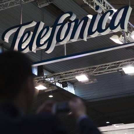 O grupo espanhol Telefónica poderá adquirir operadora de banda larga GVT Foto: Angel Navarrete / Bloomberg