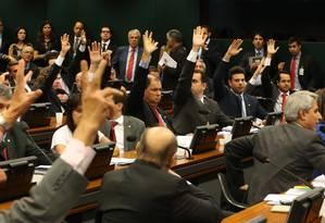 CCJ adia votação de proposta que limita em 20 o número de ministérios do governo federal Foto: Ailton de Freitas / Agência O Globo