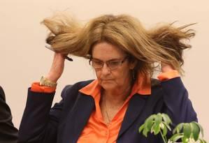 A ex-presidente da Petrobras Maria das Graças Silva Foster Foto: Ailton de Freitas / O Globo