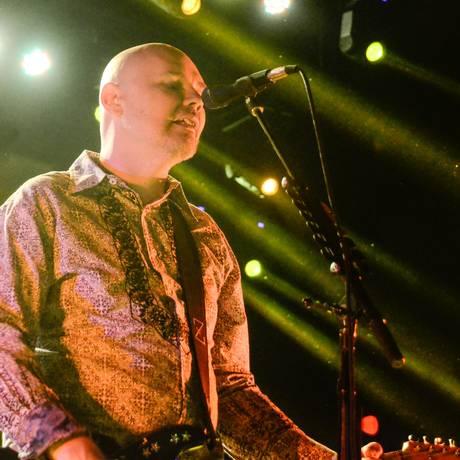 Billy Corgan no show dos Smashing Pumpkins no Rio Foto: Divulgação