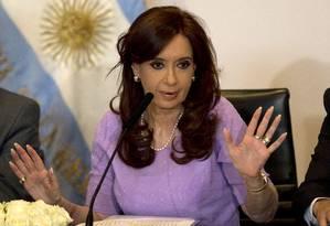 Cristina Kirchner. Denúncia do procurador Alberto Nisman contra a presidente argentina foi novamente rejeitada Foto: Rodrigo Abd / AP