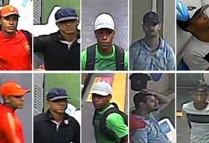 Os cinco acusados de arrastão dentro de vagão do metrô Foto: Divulgação / Polícia Civil