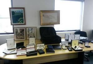 O conjunto de canetas Montblanc: Policiais acreditam que Renato Duque as usava para presentear os amigos Foto: Divulgação/Polícia Federal