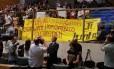 Protesto contra Eduardo Cunha na Assembleia de SP