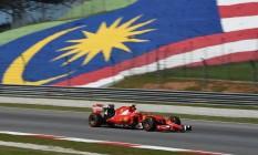 Kimi Raikkonen fez o terceiro melhor tempo nos treinos livres na Malásia Foto: GREG BAKER / AFP