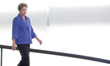 A presidente Dilma Rousseff no Palácio do Planalto Foto: Ailton de Freitas / O Globo