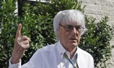 Bernie Ecclestone colocou em dúvidas o futuro do GP da Itália e não garantiu o retorno da Alemanha em 2016 Foto: AP / Darron Cummings