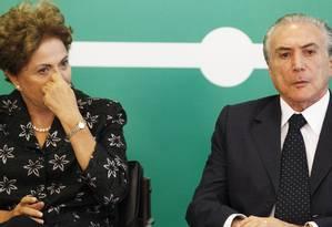 A presidente Dilma Rousseff com o vice Michel Temer Foto: Jorge William19-03-2015