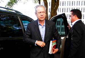 O ex-ministro da Casa Civil José Dirceu Foto: Ailton de Freitas / Arquivo O Globo - 03/07/2014
