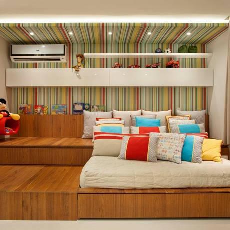O teto do quarto infantil ganhou painel Foto: Divulgação / Divulgação/MCA Estúdio