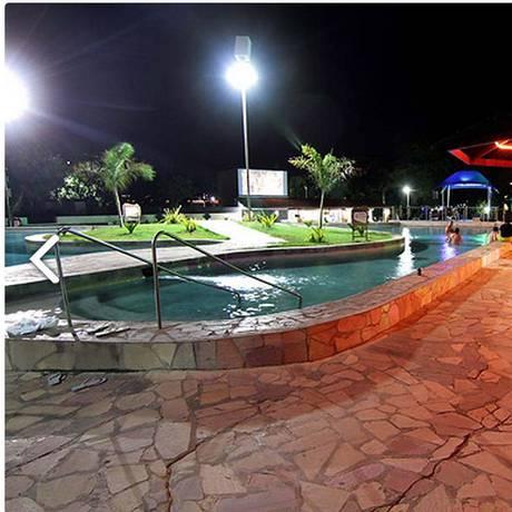 Conforto. Piscina do Hotel Thermas, onde os magistrados ficariam hospedados, com despesas pagas pela Petrobras Foto: Divulgação/Canindé Soares