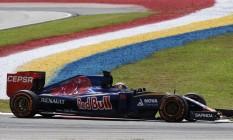 O holandês Max Verstappen ficou em sétimo lugar na Malásia Foto: MOHD RASFAN / AFP