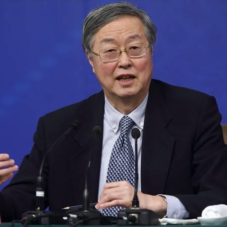 O presidente do banco central chinês Zhou Xiaochuan Foto: Tomohiro Ohsumi / Bloomberg