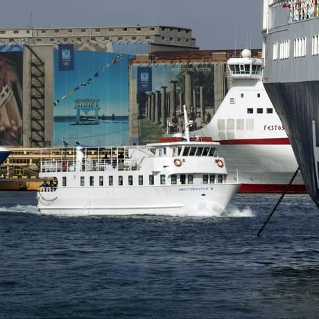 O Porto de Pireu, em Atenas Foto: ANAX / BLOOMBERG NEWS