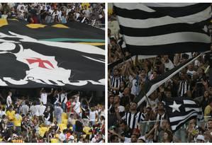 Torcidas de Vasco e Botafogo em foto de arquivo Foto: Marcos Tristão / Agência O Globo