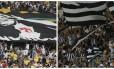 Torcidas de Vasco e Botafogo no Maracanã