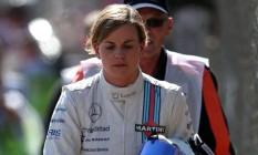 Piloto de testes da Williams, Susie Wolff não concordou com a proposta de Bernie Ecclestone de criação de uma Fórmula-1 feminina Foto: ANDREW YATES / AFP