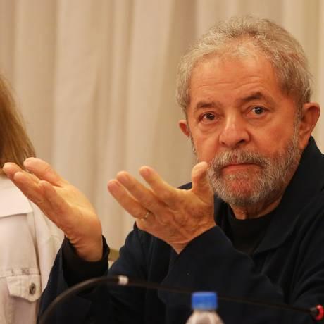 O ex-presidente Lula na reunião da executiva nacional do PT, em São Paulo Foto: Fernando Donasci / Agência O Globo