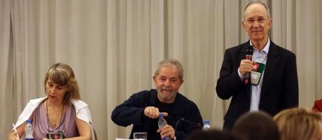 Reunião da executiva nacional do PT, em São Paulo Foto: Fernando Donasci / Agência O Globo