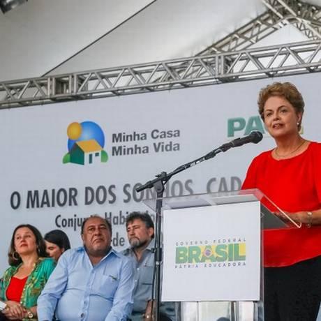 A presidente Dilma na cerimônia de entrega de unidades do Minha Casa, Minha Vida Foto: Divulgação/Presidência