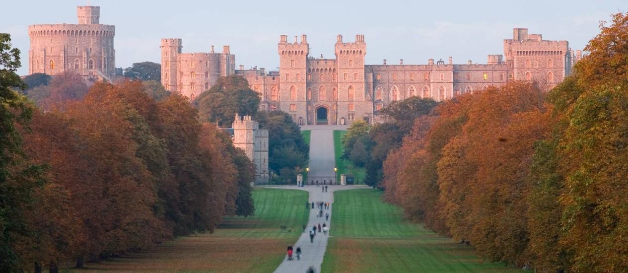 Serviçais em ação. O castelo de Windsor: construção do século XI pode viver primeira greve Foto: Divulgação