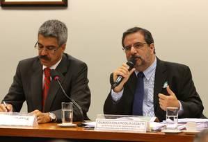 Ex-gerente de Abreu e Lima, Glauco Colepicolo Legatti, fala durante CPI da Petrobras Foto: Ailton de Freitas / Agência O Globo