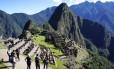 A cidade sagrada de Machu Picchu, nos arredores de Cusco, o conjunto de ruínas mais importante do Peru