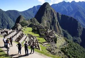 A cidade sagrada de Machu Picchu, nos arredores de Cusco, o conjunto de ruínas mais importante do Peru Foto: Tatiana Farah / Agência O Globo