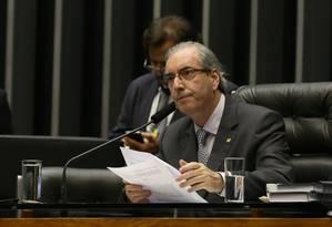 O presidente da Câmara, Eduardo Cunha (PMDB-RJ) Foto: Ailton de Freitas/30-03-2015