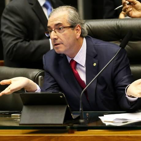 O presidente da Câmara dos Deputados, Eduardo Cunha Foto: Ailton de Freitas / Agência O Globo 31/03/2014