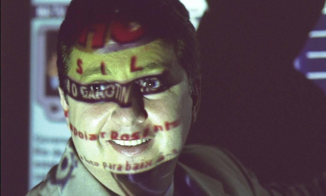 Na foto de Marcelo Sayão, o ex-governador Anthony Garotinho parece mascarado Foto: Marcelo Sayão / Agência O globo