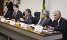 Jorge Rachid, o primeiro à direita, durante CPI do HSBC Foto: Divulgação