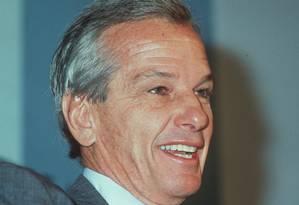 Jorge Paulo Lemann, em uma de suas raras fotos públicas, em 1998 Foto: Abril Imagens
