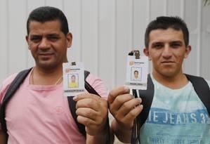 Funcionários que foram demitidos do Complexo Esportivo de Deodoro Foto: Pablo Jacob / Agência O Globo