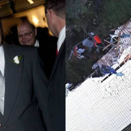 Filho do governador Geraldo Alckmin morre em acidente aéreo Foto: Montagem: Folhapress e Reprodução TV GLOBO