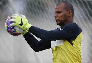 O goleiro Jefferson decidiu não disputar a final do Carioca, por ainda não se sentir totalmente recuperado da cirurgia no joelho Foto: Divulgação/Botafogo/20-3-2015