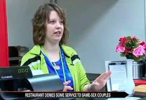Crystal O'Connor, dona da Memories Pizza, disse que não prestaria serviços em casamentos homoafetivos Foto: REPRODUÇÃO/YOUTUBE