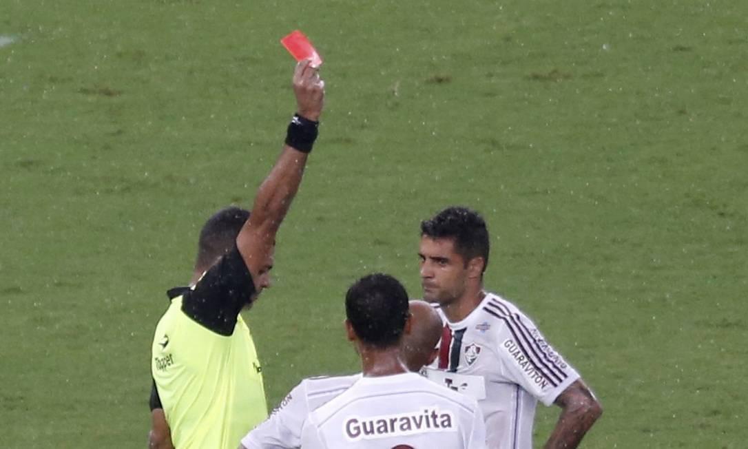 Fred foi injustamente expulso Marcelo Carnaval / Agência O Globo
