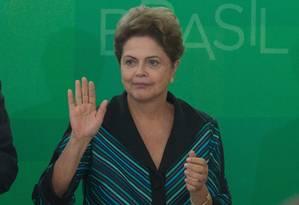 Presidente Dilma Rousseff Foto: André Coelho/ O Globo - 6/04/2015