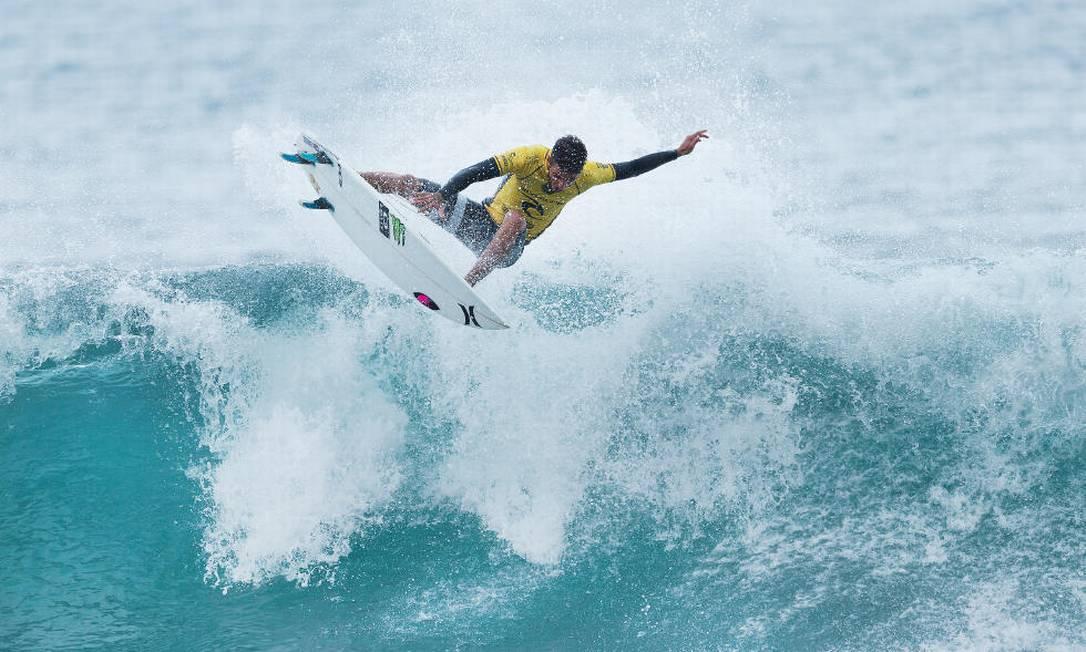 Campeão da primeira etapa, Filipe Toledo também avançou Divulgação / World Surf League