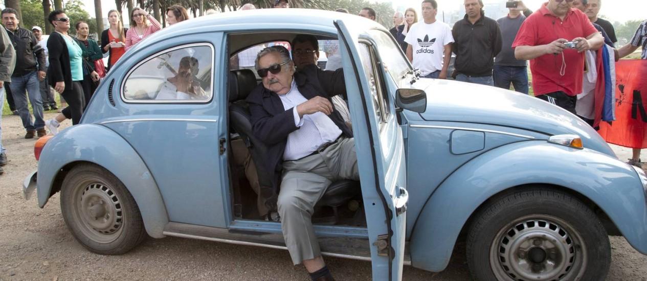 Jose Mujica em 2014. Ex-presidente uruguaio reclamou que refugiados sírios acolhidos pelo país não estão aptos a trabalhar em fazendas Foto: Natacha Pisarenko / AP