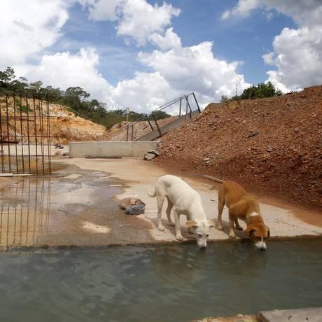 A barragem do Córrego Bandeirinha, em Formosa Foto: Jorge William