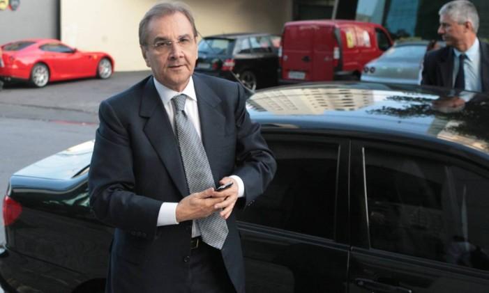 O presidente do DEM, José Agripino Maia Foto: Marcos Alves/13-04-2010