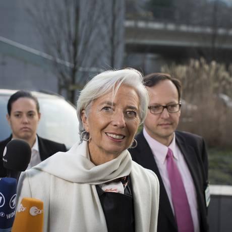 A diretora-gerente do FMI Christine Lagarde Foto: Jasper Juinen / Bloomberg