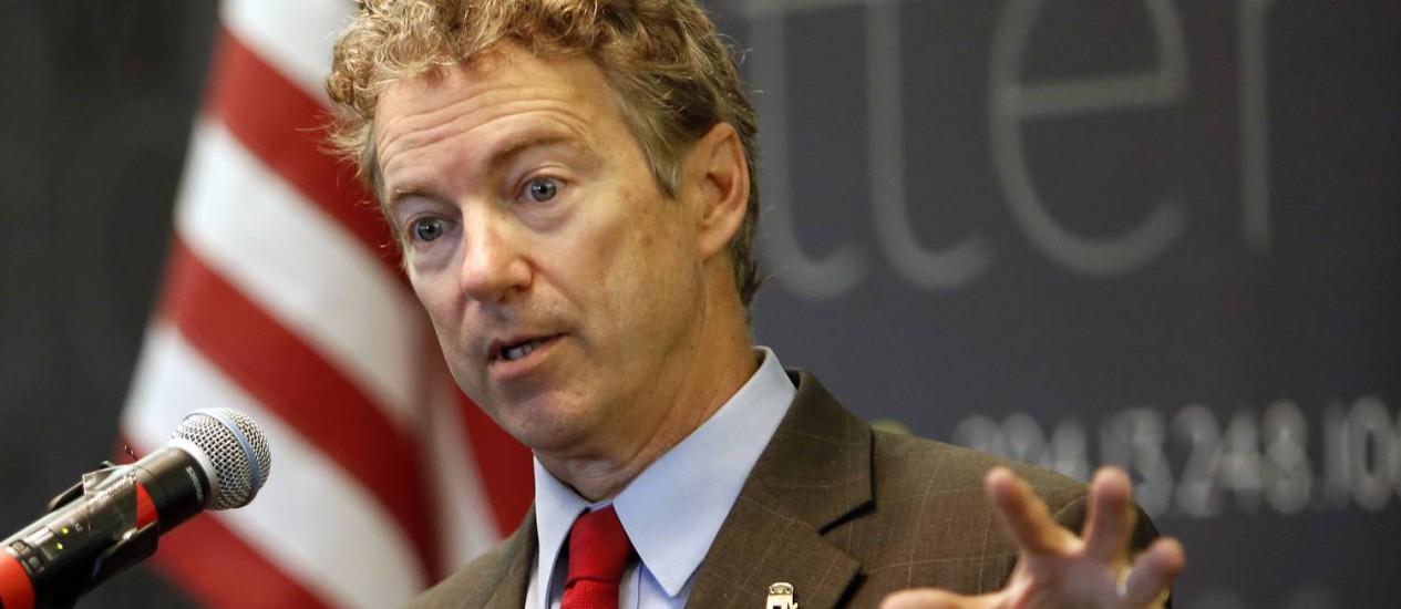 Rand Paul é o segundo nome dos republicanos, e mantém perfil conservador Foto: Jim Cole / AP