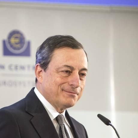 O presidente do Banco Central Europeu Mario Draghi Foto: Martin Leissl / Bloomberg